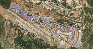 Una vista aerea del circuito di Le Castellet